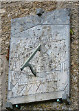 SW4538 : Sundial, St Senara's Church, Zennor by Pauline E