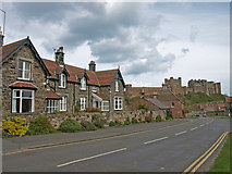 NU1834 : Bamburgh with the castle in the distance. by wfmillar