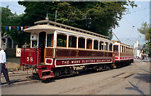 SC4384 : Enclosed trailer car on the Manx Electric Railway by Dr Neil Clifton