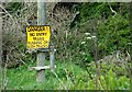 J4790 : Railway sign near Whitehead (2) by Albert Bridge