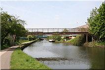 TQ2182 : Footbridge over Paddington Arm, Grand Union Canal by Dr Neil Clifton