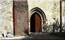 SU3521 : South Door Romsey Abbey by John Firth
