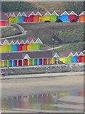 TA0390 : Holiday chalets, North Bay, Scarborough by Hazel Marlor