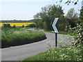 TM0857 : Mill Lane bends by turn for Creeting St Peter church by Andrew Hill