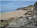 SW6948 : Northern part of Porthtowan beach by Alex Robinson