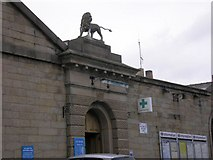 SK0394 : The Glossop Lion by Gerald England