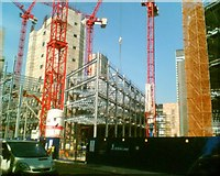 TQ2882 : Steel structure to Regents Place by Steve  Fareham
