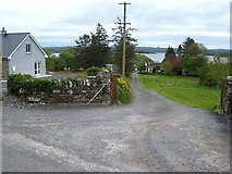 G8307 : Driveway to houses overlooking the north shore of Lough Key by Oliver Dixon