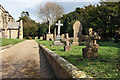 SE9652 : The churchyard, Bainton by Peter Church