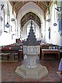 TG0602 : St Andrew & All Saints, Wicklewood, Norfolk - Font by John Salmon