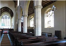 TG0400 : St Andrew's Church, Deopham, Norfolk - South arcade by John Salmon