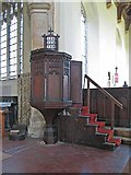 TG0400 : St Andrew's Church, Deopham, Norfolk - Pulpit by John Salmon