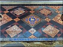 TG0400 : St Andrew's Church, Deopham, Norfolk - Sanctuary tiles by John Salmon