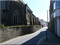 SS5247 : Ropery road facing the harbour with the church of St. Philip & St. James to the left. by Roger A Smith