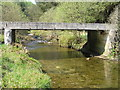 SN8686 : River Severn, Forestry road bridge, Cwm Ricket by kevin skidmore