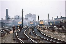 SJ8499 : Manchester Victoria - eastern approaches 1979 by Peter Whatley