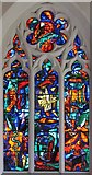 TM1579 : St Andrew's Church, Scole, Norfolk - East window by John Salmon