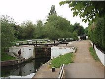 TQ1579 : Grand Union Canal Hanwell bottom lock (97) by David Hawgood