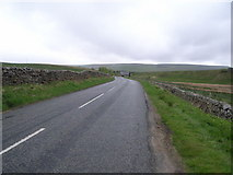SD7992 : Looking north-east along the A684 by Nick Mutton