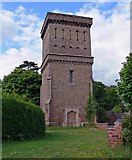 SK3516 : Tower at Ashby de la Zouch Cemetery by Mat Fascione