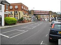 TQ2475 : Putney: A3209 Putney Bridge Road railway bridge by Nigel Cox