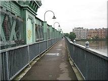 TQ2475 : Fulham Railway Bridge footbridge by Nigel Cox