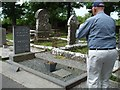 G6742 : Tourists at WB Yeats' grave, Drumcliff Graveyard by Kenneth  Allen