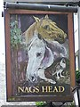 NY5361 : Sign for the Nags Head, Brampton by Maigheach-gheal
