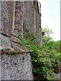 SM7525 : North wall of the Refectory, St David's by Dylan Moore