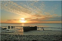 S6905 : Woodstown beach at sunrise by tony quilty