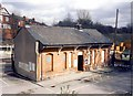SJ8994 : Reddish North station building - street view by Peter Whatley
