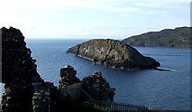 NG4074 : Tulm Island from Duntulm Castle by Rob Farrow