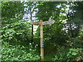 NJ9304 : Fingerpost on old Deeside Railway by Duthie Park by Stanley Howe