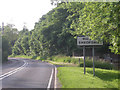 SO7988 : The A458 at the county boundary by Row17
