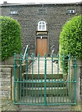 SE0118 : Entrance to Rishworth Congregational Chapel, Parrock Nook, Rishworth by Humphrey Bolton