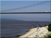 TA0225 : Fishermen on Hessle Foreshore by Andy Beecroft
