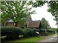 TL0841 : Lych gate at Saint Mary's Church, Haynes Church End by Robin Drayton