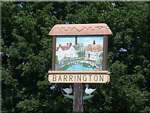 TL3949 : Barrington Village Sign - detail by Keith Edkins