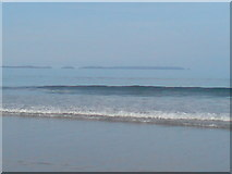 SM7210 : View of Skomer from Newgale beach by Deborah Tilley