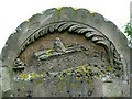 TG0442 : St Mary's church - headstone detail by Evelyn Simak