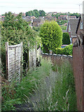 SK3750 : Footpath at the back of Tenter Street by Alan Murray-Rust