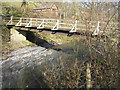 SN9484 : River Severn,Colonels timber farm access bridge. by kevin skidmore