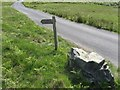 NY1506 : Bridleway signpost by trevor willis