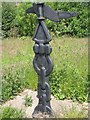 NS9867 : National Cycle Network milepost by Richard Webb