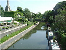 TQ2883 : Grand Union Canal - Regents Park, NW1 by Phillip Perry