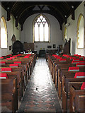 TM0099 : St Peter's church - view west by Evelyn Simak