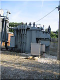 SU6252 : Electric sub-station detail - Brunel Road by Given Up