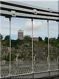ST5673 : Clifton: the observatory from the bridge by Chris Downer