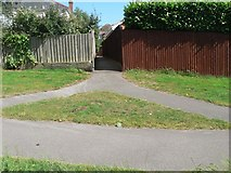 SZ0895 : Redhill: footpath O03 from The Grove by Chris Downer