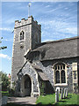 TG4414 : St Margaret's church - porch and tower by Evelyn Simak